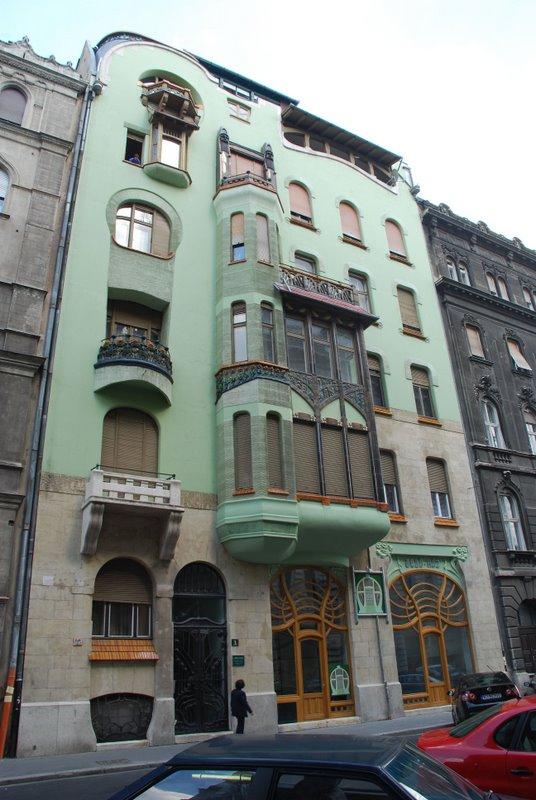 Art Nouveau facade in Budapest