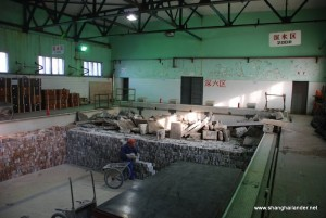 Inside of the swimming pool