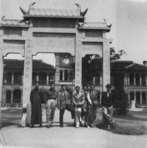 Raymond Chao & friends, Saint John University, late 1940's