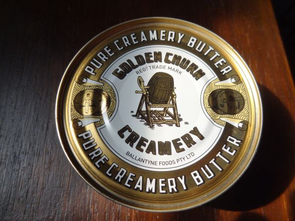Butter in a tin... like in the old time