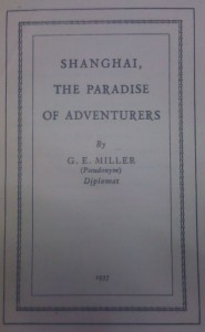 Book Cover, Shanghai, the paradise of adventurers
