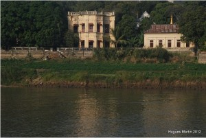 Old Bristih house on the river, Burma