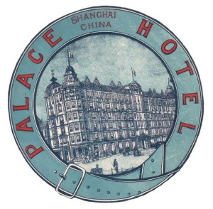 Shanghai Palace hotel luggage label