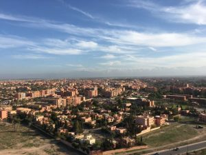 View from Marrakesh from Mount Gueliz