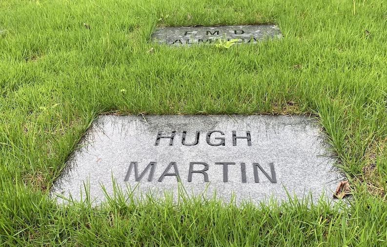 Hugh Martin's grave in Shanghai